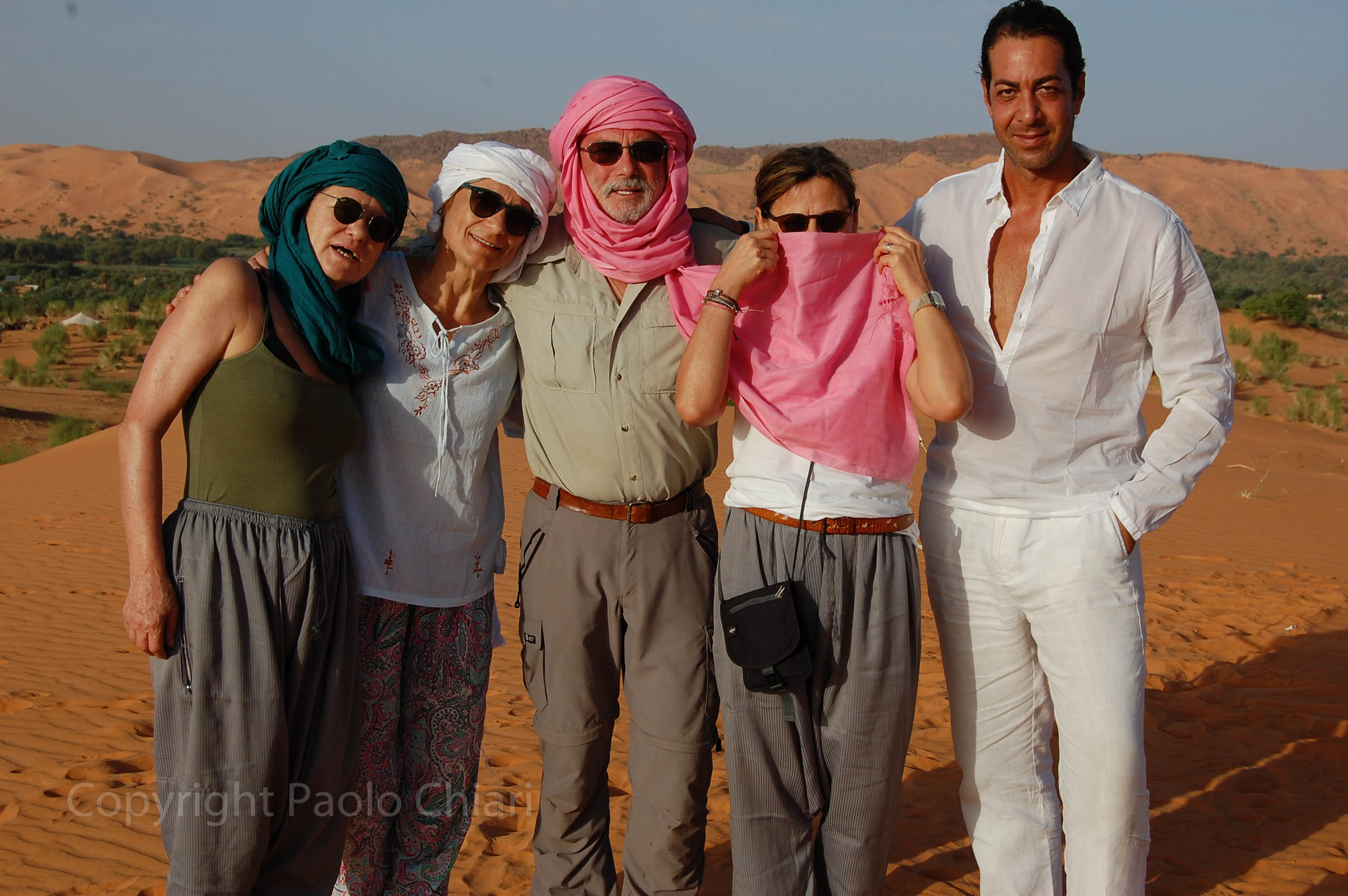 Il gruppo in Mauritania nel 2016