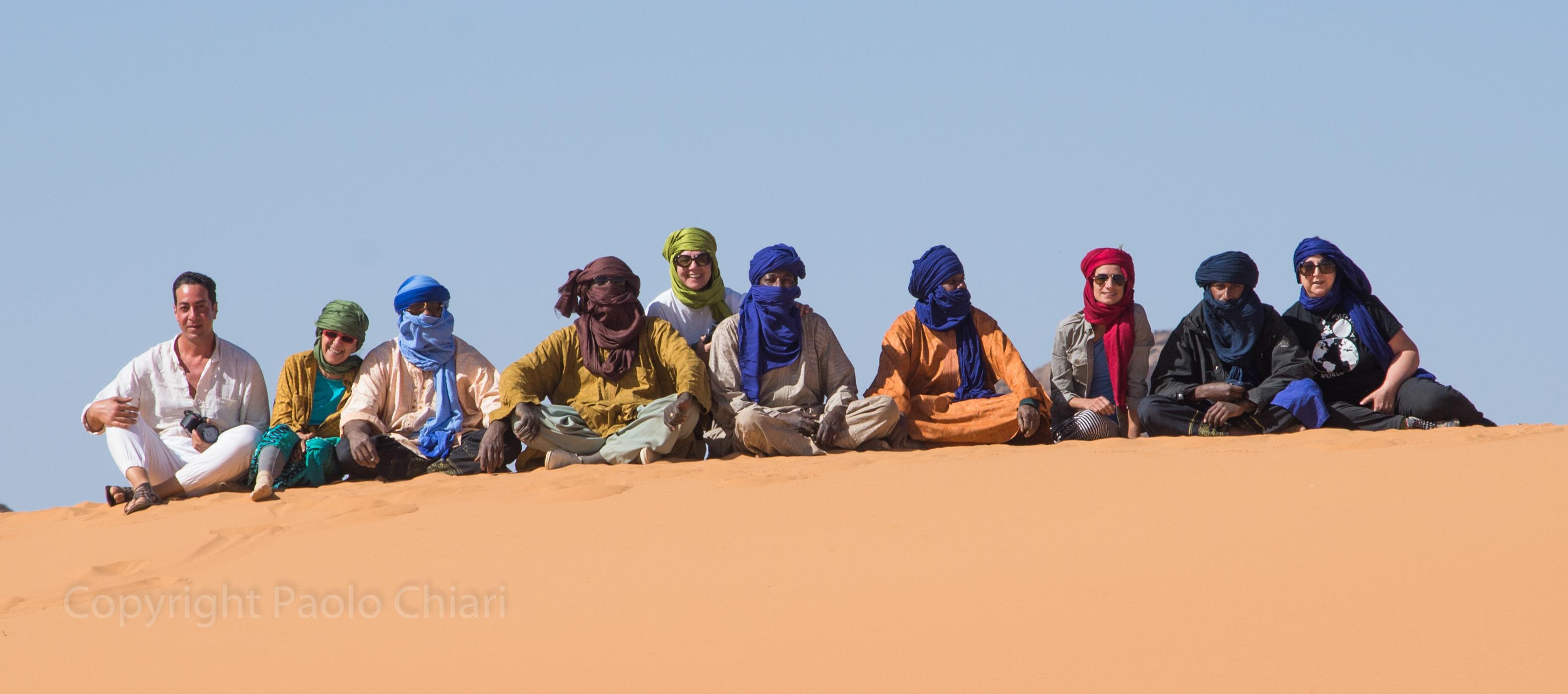 Saluti di gruppo dalla duna