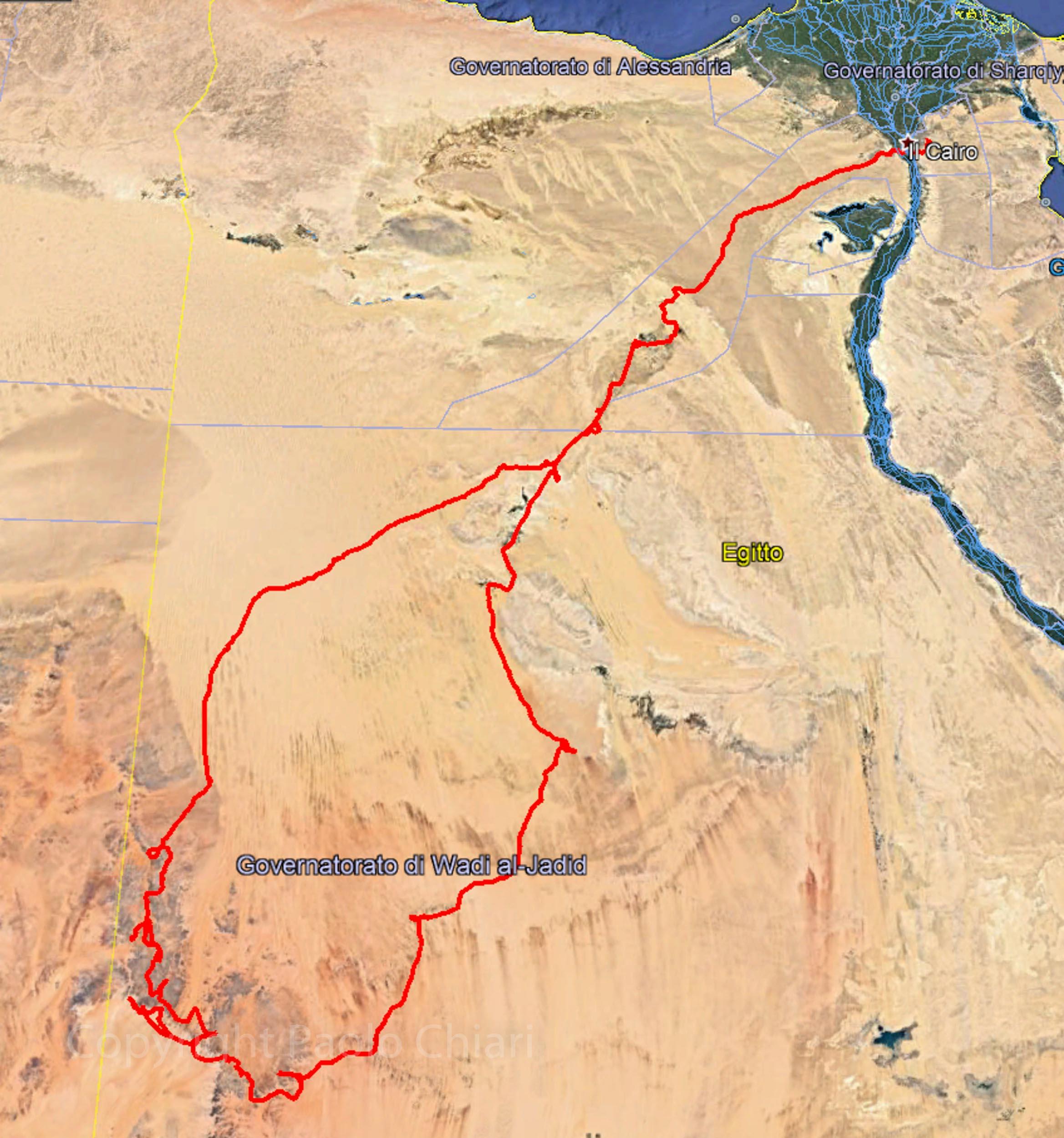 percorso egitto 2011