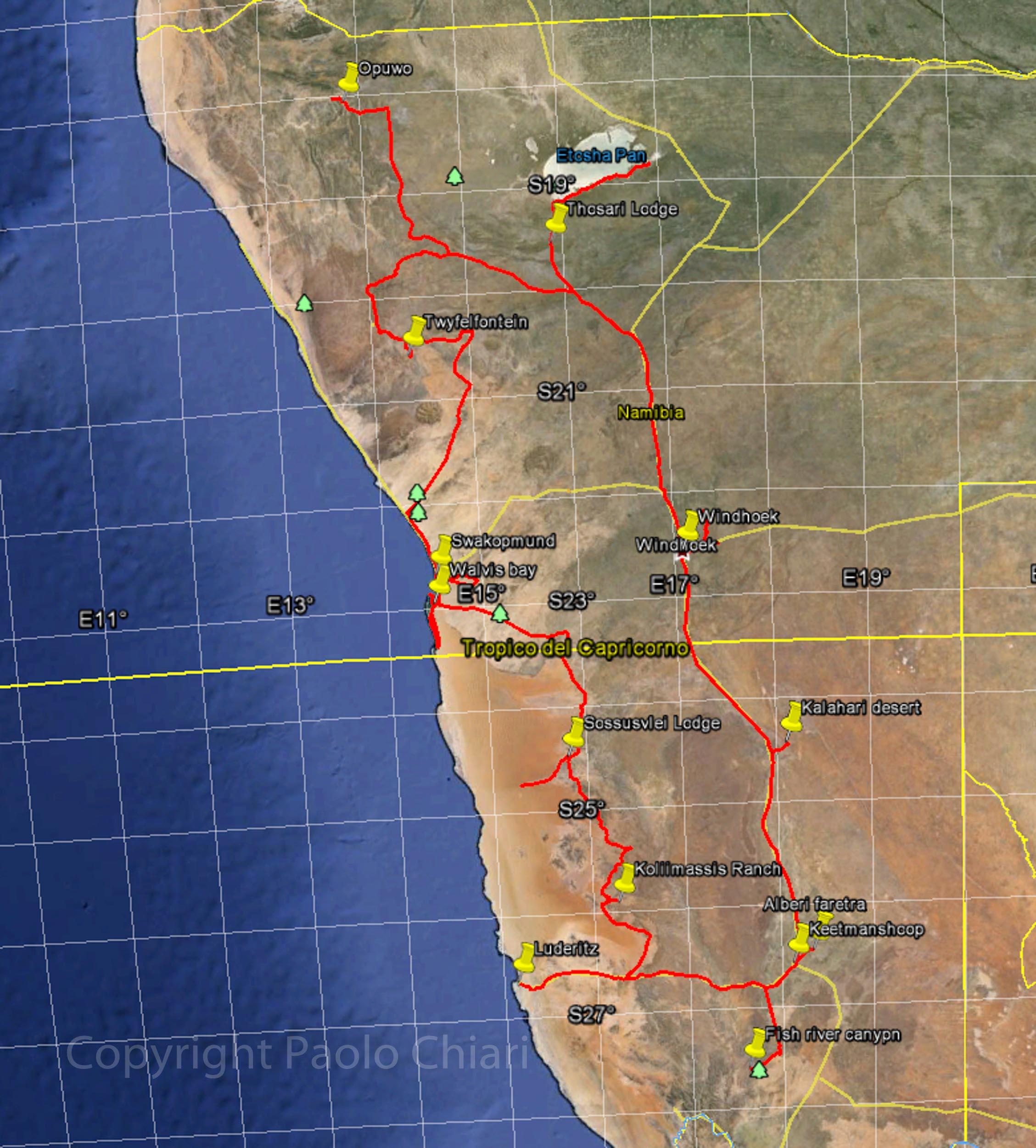 Percorso Namibia 2014