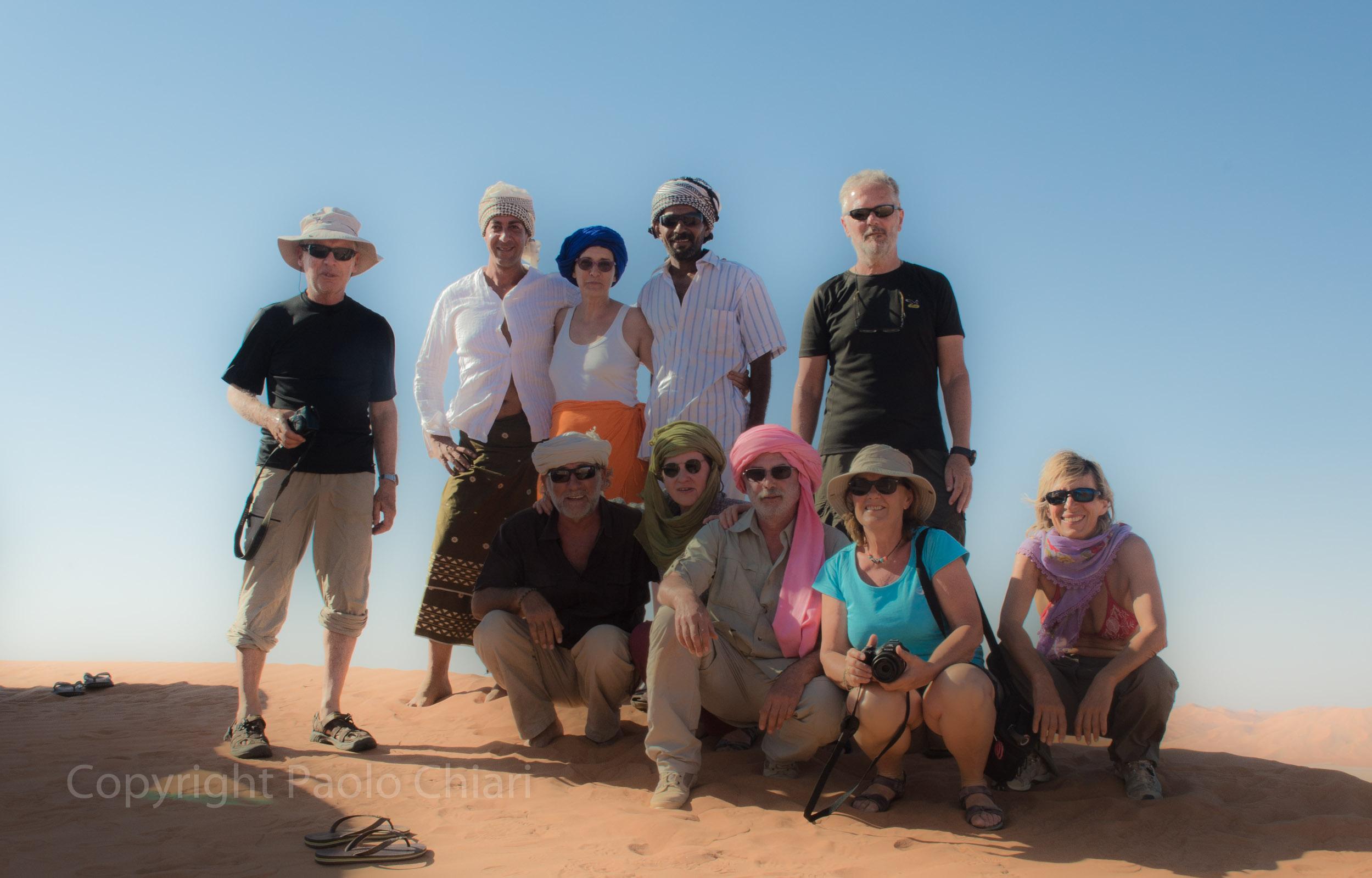 Il gruppo in Oman nel 2014