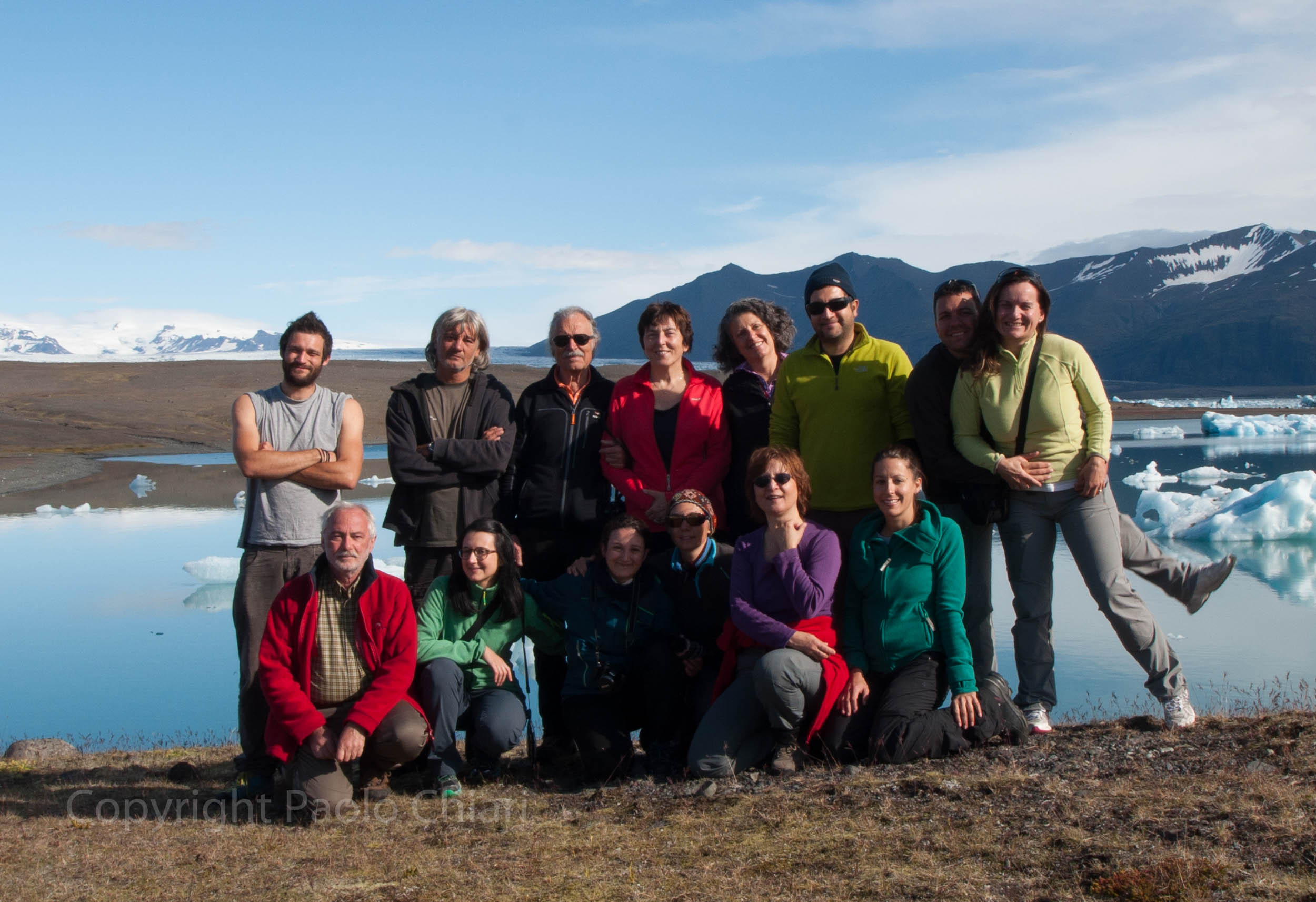 Il gruppo in Islanda nel 2015